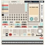 Teresa Collins Designs - Memories Collection - 12 x 12 Die Cut Chipboard Stickers - Elements