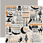 Teresa Collins - Masquerade Party Collection - 12 x 12 Double Sided Paper with Foil Accents - Halloween Collage