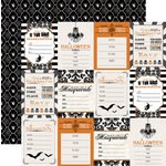 Teresa Collins Designs - Masquerade Party Collection - 12 x 12 Double Sided Paper - Invitations