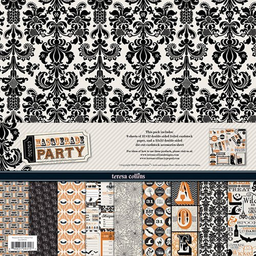 Teresa Collins - Masquerade Party Collection - 12 x 12 Paper and Accessories Pack
