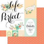 Teresa Collins Designs - Nine and Co Collection - 12 x 12 Double Sided Paper - Perfect