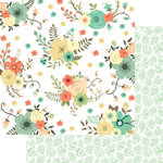 Teresa Collins - Nine and Co Collection - 12 x 12 Double Sided Paper - Flowers