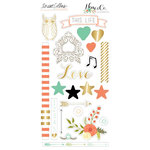 Teresa Collins Designs - Nine and Co Collection - Die Cut Chipboard Stickers - Elements