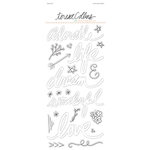 Teresa Collins Designs - Nine and Co Collection - Vellum Stickers - Words