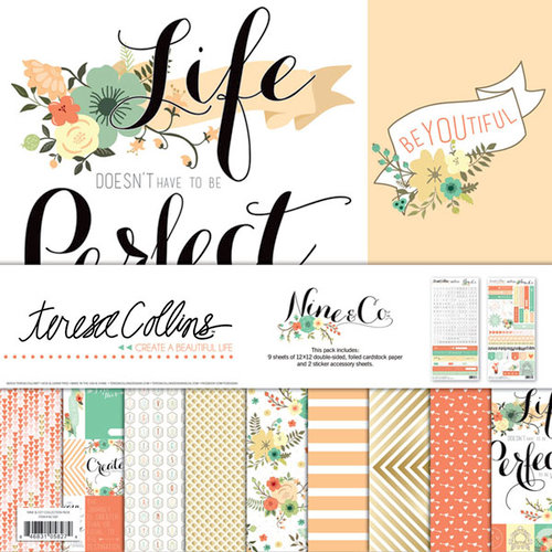 Teresa Collins - Nine and Co Collection - 12 x 12 Collection Pack