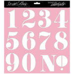 Teresa Collins Designs - Signature Essentials Collection - 12 x 12 Stencil - Numbers