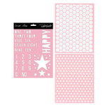 Teresa Collins - Signature Essentials Collection - 8 x 10 Stencil Pack - Happy
