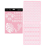 Teresa Collins Designs - Signature Essentials Collection - 8 x 10 Stencil Pack - Shine