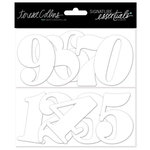 Teresa Collins Designs - Signature Essentials Collection - Thick Cardstock Numbers - White