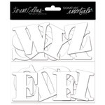 Teresa Collins - Signature Essentials Collection - Thick Cardstock Alphabet - White