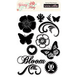 Teresa Collins - Spring Fling Collection - Clear Acrylic Stamps