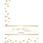 Teresa Collins Designs - Studio Gold Collection - Stationery Pack - Foil Dots