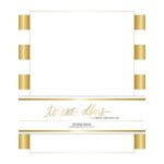 Teresa Collins Designs - Studio Gold Collection - Stationery Pack - Foil Stripes