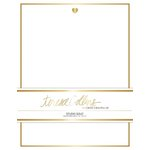 Teresa Collins Designs - Studio Gold Collection - Stationery Pack - Foil Heart