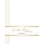 Teresa Collins Designs - Studio Gold Collection - Stationery Pack - Foil Chevron