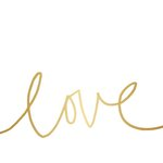 Teresa Collins Designs - Studio Gold Collection - Card Set - Love