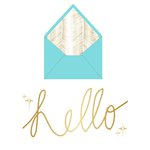 Teresa Collins Designs - Studio Gold Collection - Card Set - Hello
