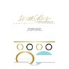 Teresa Collins Designs - Studio Gold Collection - Label Stickers
