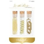 Teresa Collins Designs - Studio Gold Collection - Book Plate and Clip Set