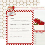 Teresa Collins Designs - Santas List Collection - 12 x 12 Double Sided Paper - Santas Letter