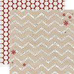 Teresa Collins - Santas List Collection - 12 x 12 Double Sided Paper - Chevron
