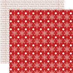Teresa Collins - Santas List Collection - 12 x 12 Double Sided Paper - Red Flakes