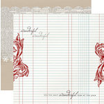 Teresa Collins - Santas List Collection - 12 x 12 Double Sided Paper - Ledger