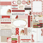 Teresa Collins - Santas List Collection - 12 x 12 Die Cut Paper