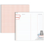 Teresa Collins - Stationary Noted Collection - 12 x 12 Double Sided Paper - Owl Ledger