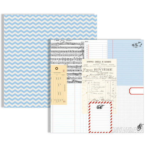 Teresa Collins Designs - Stationery Noted Collection - 12 x 12 Double Sided Paper - Ledgers