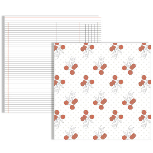 Teresa Collins Designs - Stationery Noted Collection - 12 x 12 Double Sided Paper - Flowers