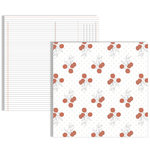 Teresa Collins - Stationery Noted Collection - 12 x 12 Double Sided Paper - Flowers