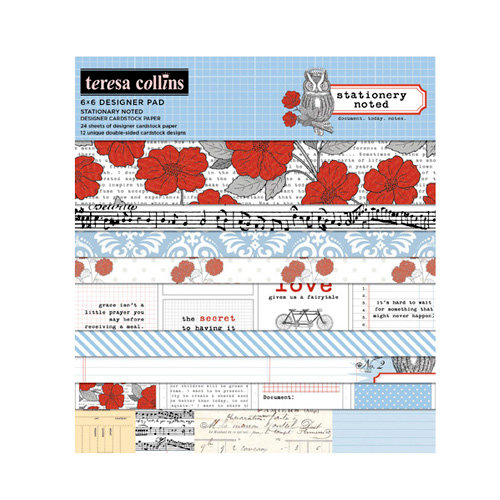 Teresa Collins - Stationery Noted Collection - 6 x 6 Paper Pad