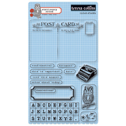 Teresa Collins - Stationery Noted Collection - Clear Acrylic Stamps