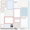 Teresa Collins Designs - Stationery Noted Collection - 12 x 12 Die Cut Paper