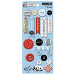 Teresa Collins Designs - Stationery Noted Collection - Chipboard Buttons