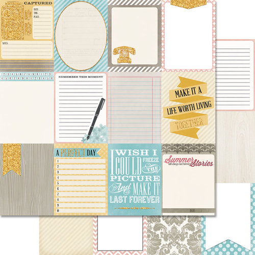Teresa Collins - Summer Stories Collection - 12 x 12 Double Sided Paper - Cards