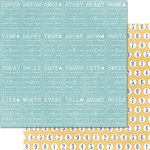 Teresa Collins Designs - Summer Stories Collection - 12 x 12 Double Sided Paper - Bingo