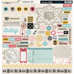 Teresa Collins - Summer Stories Collection - 12 x 12 Die Cut Chipboard Stickers - Elements