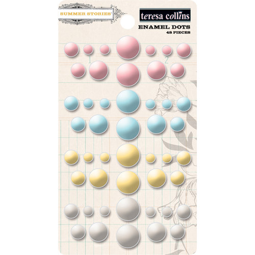 Teresa Collins - Summer Stories Collection - Enamel Dots