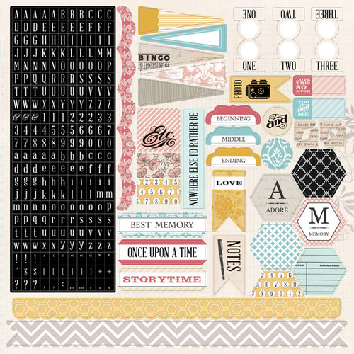 Teresa Collins - Summer Stories Collection - 12 x 12 Cardstock Stickers