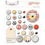 Teresa Collins Designs - Something Wonderful Collection - Decorative Brads