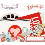 Teresa Collins Designs - Something Wonderful Collection - Ephemera Pack