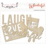 Teresa Collins Designs - Something Wonderful Collection - Die Cut Wood Shapes