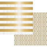 Teresa Collins Designs - Tinsel and Company Collection - Christmas - 12 x 12 Double Sided Paper with Foil Accents - Stripes