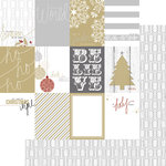 Teresa Collins Designs - Tinsel and Company Collection - Christmas - 12 x 12 Double Sided Paper - Cards