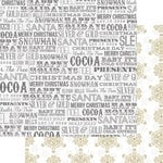 Teresa Collins - Tinsel and Company Collection - Christmas - 12 x 12 Double Sided Paper - Words