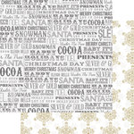 Teresa Collins Designs - Tinsel and Company Collection - Christmas - 12 x 12 Double Sided Paper - Words