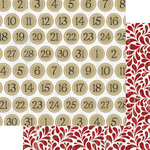 Teresa Collins Designs - Tinsel and Company Collection - Christmas - 12 x 12 Double Sided Paper - Numbers