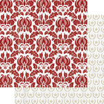 Teresa Collins Designs - Tinsel and Company Collection - Christmas - 12 x 12 Double Sided Paper - Damask